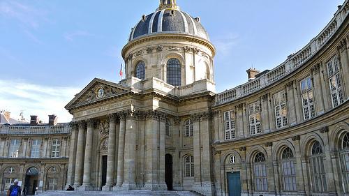 P1080348 France, Paris, l'Institut de France; ce bâtiment abrite 5 académies dont la célèbre Académie française