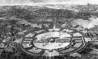 Projet pour la ville nouvelle de Chaux autour de la saline d'Arc-et-Senans / Photo Justelipse / Wikipédia