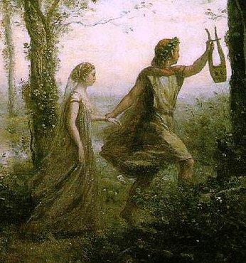 Jean-Baptiste Corot : Orphée ramenant Euridice des enfers. Métaphore de la ville orphique (entrelacement d'artifices et de nature) soumise au principe de durabilité forte selon Joëlle Salomon Calvin et Dominique Bourg