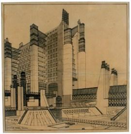 Une utopie métropolitaine (1914) d'Antonio Sant'Elia, architecte italien