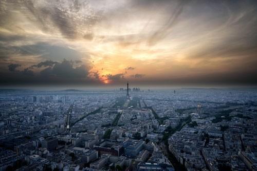Vue surplombante de Paris