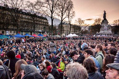 Nuit Debout place de la République le10 avril 2016