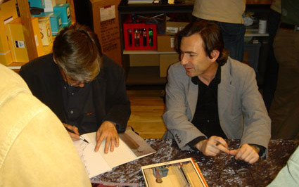 François Schuiten et Benoît Peeters au Festival de la BD de Kobenhavn en 2006 (Danemark)